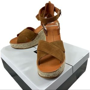 "Dolce Vita Brown Suede ""Pami"" Wedges"
